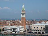 Venice - St. Mark's Square as seen from the San Macro Canal — 图库照片