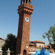 The bell tower of San Giacomo, Murano island — Stock Photo