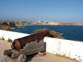 Sagres Point - Cannon inside the fortress — Stok fotoğraf