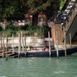 Venice - Gondola at the bridge Academia — Foto Stock