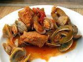 Mořské plody cataplana. — Stock fotografie