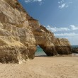Caves and colourful rock formations on the Algarve — Stock Photo