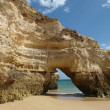 Caves and colourful rock formations on the Algarve — Stock Photo #5962305