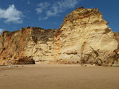 Colorful rock cliffs of the Algarve — Stock Photo