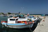 Fischerboote in den hafen von kos — Stockfoto