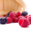 Closeup image of Fresh Raspberries and Blueberries — Stock Photo #6297463