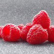 Closeup image of Fresh Raspberries on the Dark Background — Stock Photo #6347427