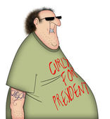 Curly For President — Stock Photo
