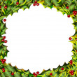 Holly Frame horizontal — Stock Photo