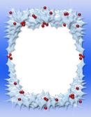 Christmas Holly Frame — Stock Photo