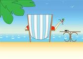 отдых на море — Cтоковый вектор