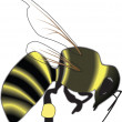 Bee Vector — Stock Vector