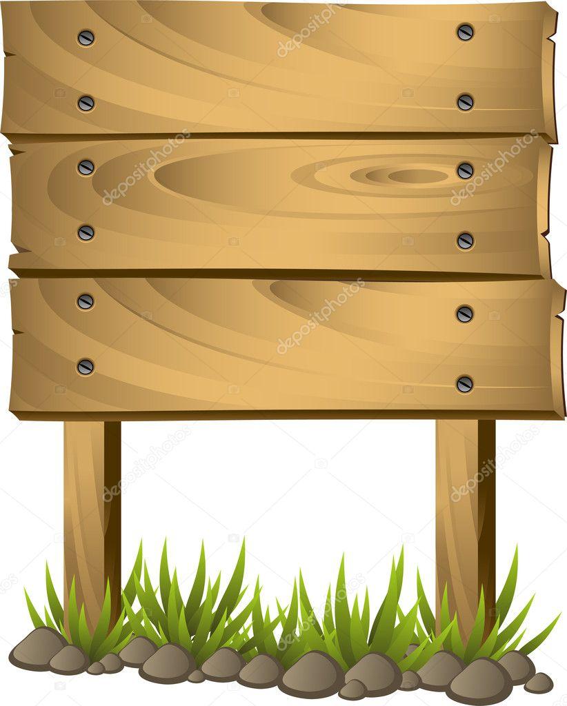 Wooden signboard stock vector jara3000 5608795 - Placa de madera ...