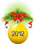 Christmas ball 2012 — Stock Vector