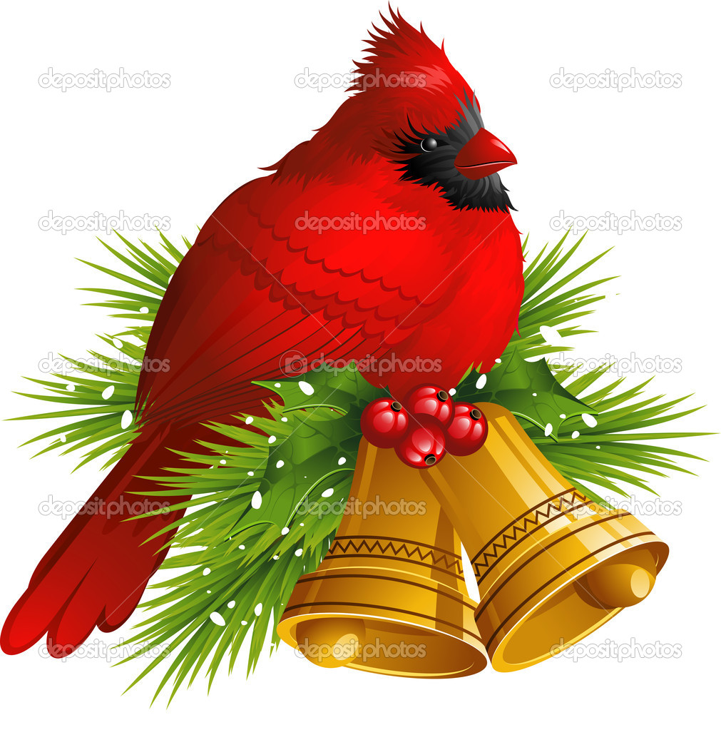 depositphotos_6674435-Cardinal-Bird-with-Christmas-bells - Christmas Greetings to TBlanders! - Anonymous Diary Blog