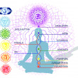 Royalty-Free Stock Vector Image: 7 Chakras And An Asana