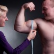 Measuring bicep — Stock Photo #5551151