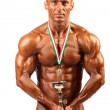 Bodybuilder champion posing — Stock Photo