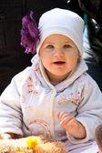 Kız, portre, bebek — Stok fotoğraf