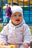 Menina, retrato, bebê — Fotografia Stock