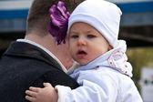 Papa, bébé, portrait — Photo