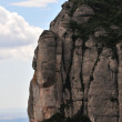 Stock Photo: Montserrat mountain with rood