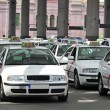 Stock Photo: Many taxis waiting for passenger