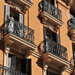 Windows with Balcony - Madrid — Stock Photo