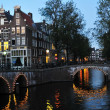 Amsterdam at night - Stock Photo