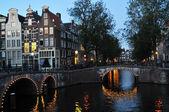Amsterdam at night — Stock Photo