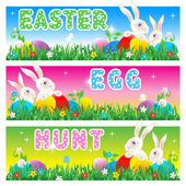 Easter Egg Hunt invitation, card or poster background — Stock Vector