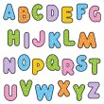 Polka-dot alphabet set — Stock Vector