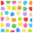 Hexagonal jigsaw puzzle pieces — Stock Vector