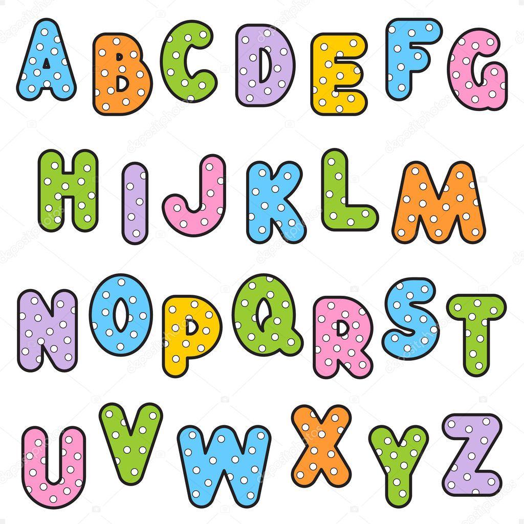 Girly Bubble Alphabet Fonts