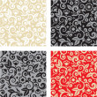 Seamless floral pattern backgrounds — Stock Vector