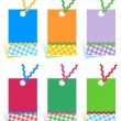 Hang tags design elements — Stock Vector