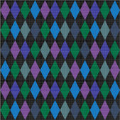 Seamless harlequin pattern fabric background — Stock Vector