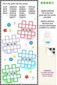 Kriss-kross word game — Stock Vector
