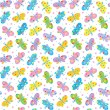 Stock Vector: Seamless butterflies pattern, background