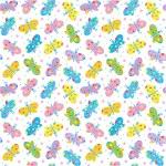 Seamless butterflies pattern, background — Stock Vector