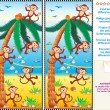 Find the differences visual puzzle - Image vectorielle