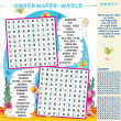 Underwater world word search puzzle - Stock Vector