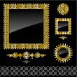 Royalty-Free Stock Vector Image: Set of golden frames and design elements
