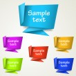 Set of abstract origami tag labels - Stock Vector