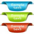 Set of multicolored tag labels — Imagen vectorial