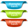 Set of multicolored tag labels - Stock Vector