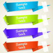 Set of abstract origami tag labels — Stock Vector #5637439