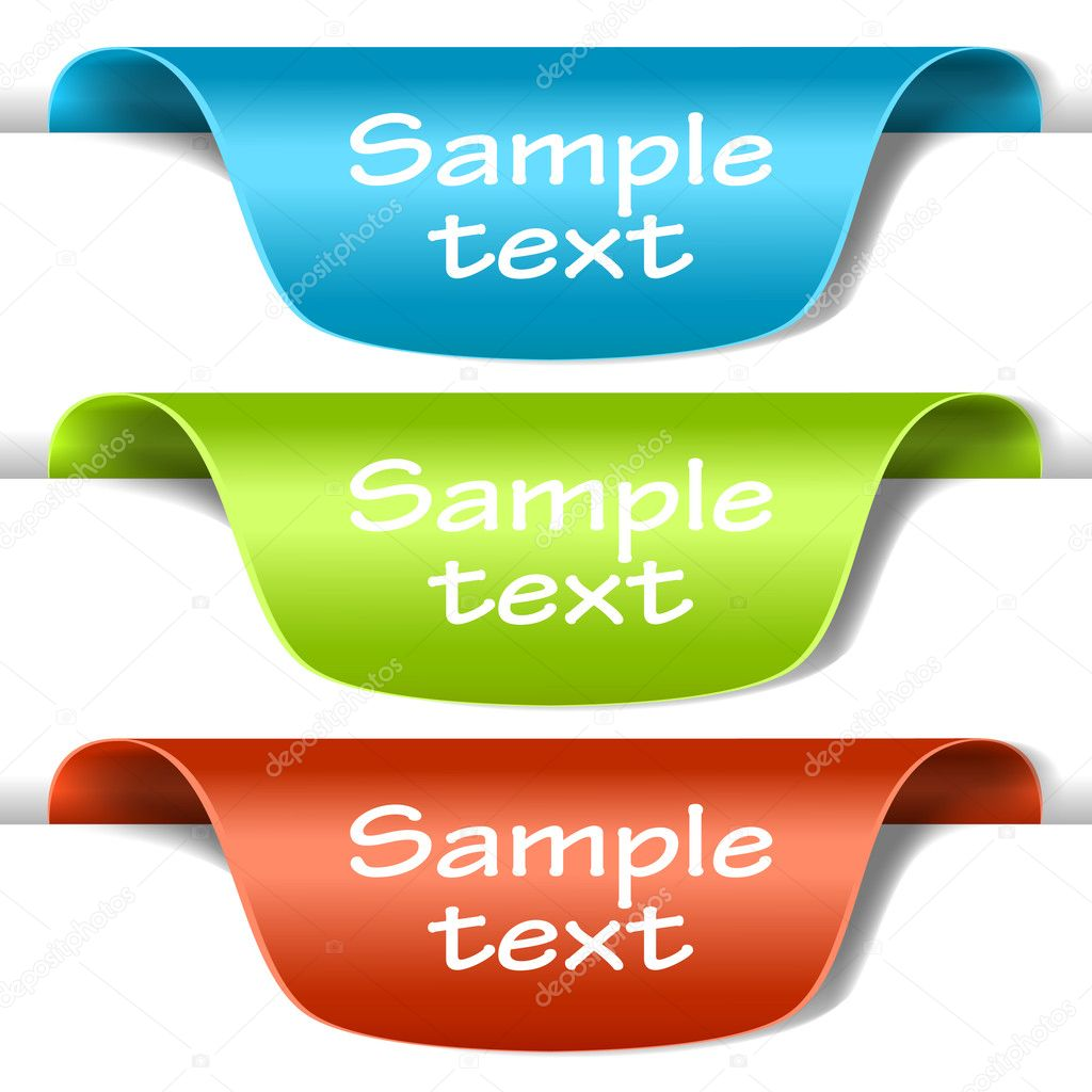 Set of multicolored tag labels — Stock Vector © L_amica #5637438