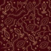 抽象花卉无缝背景 — 图库矢量图片