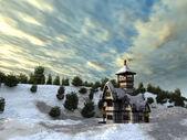 Fairy tale cottage — Stock Photo